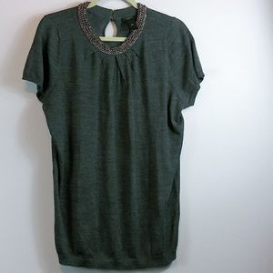 Ann Taylor beaded top size L